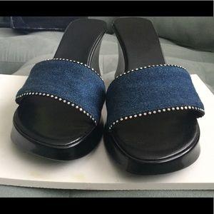 Shoes - Size 10 Denim platform slides